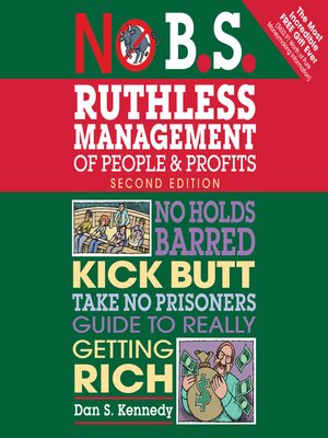 cover image of No B.S. Ruthless Management of People and Profits